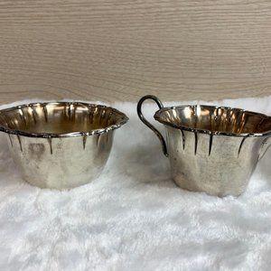 Silver Plated Sugar and Creamer Set